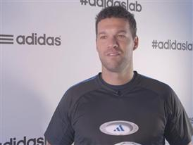 Michael Ballack at the adidas lab - Interview