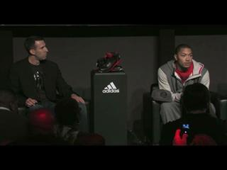 adidas, Derrick Rose Launch 'D Rose 3' Signature Basketball Shoe, new Logo and Apparel Collection