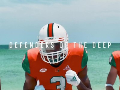 University of Miami Football and adidas Unveil Special Edition 2018 Uniforms Featuring Parley Materials Made From Upcycled Marine Plastic Waste