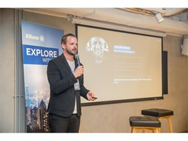 Florian Scheiblbrandner, Head of Global Brand Communication at Allianz, presenting the Explorer mindset