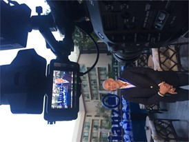 Jean-Marc Pailhol, Allianz Head of Group Market Management and Distribution, being interviewed at the micro-conference