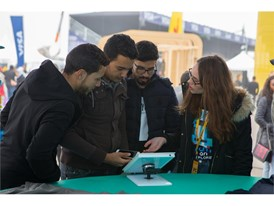 Visitors engaging at the Allianz Explorer Zone