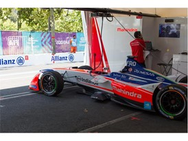 The Formula-E championship is a class of auto racing that uses only electric-powered cars