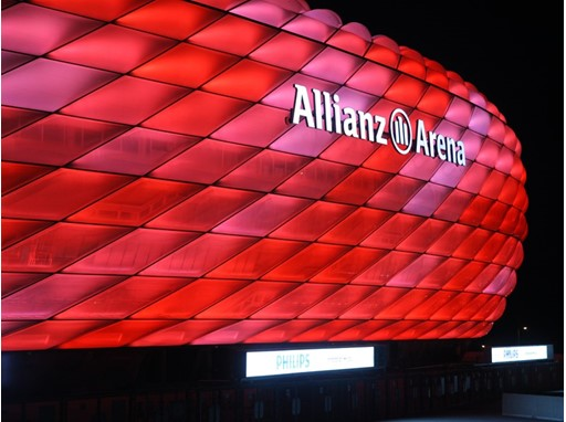 Allianz Arena, illuminated