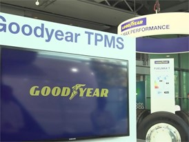 Footage at the booth of Goodyear Dunlop Tyres Operations at the 67th IAA Commercial Vehicles
