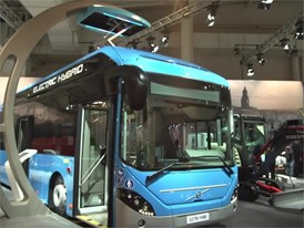 Footage at the booth of Volvo Buses at the 67th IAA Commercial Vehicles