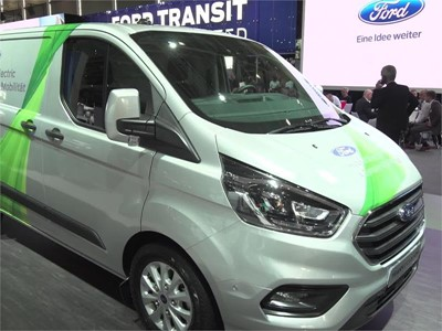Footage of the booth of Ford at the 67th IAA Commrecial Vehicles, Hanover, Germany