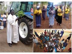 New Holland donates a TD5 tractor to support Father Natalino's missionary project in the Aura diocese in northern Uganda