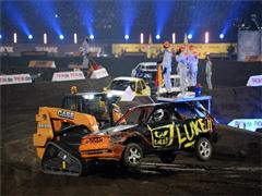 Case compact loader trio assist track marshals for the TV total Stock Car Crash Challenge 2014