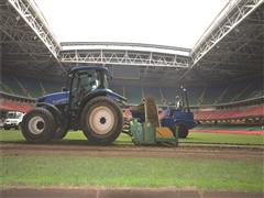 New Holland team plays out Millennium Stadium's last fully grass surface