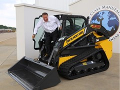 U.S. Representative Mike Pompeo visits CNH Industrial construction equipment facility in Wichita