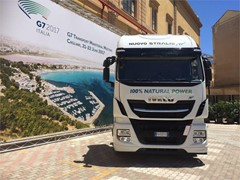IVECO at the inauguration of the G7 Transport Ministers' Meeting in Cagliari with Stralis NP and increasingly sustainable solutions