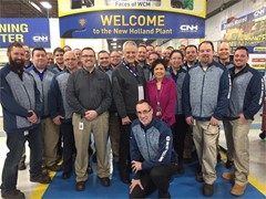 CNH Industrial New Holland, Pennsylvania, USA plant achieves Bronze Level designation in World Class Manufacturing