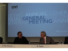 CNH Industrial announces voting results of Annual General Meeting and publication of 2017 Sustainability Report