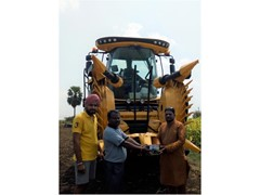 New Holland Agriculture delivers its powerful FR500 Forage Harvester in Andhra Pradesh