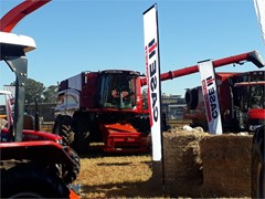 Case IH display at the 2019 ADMA Agrishow features the largest combine on sale in Zimbabwe