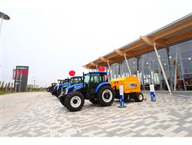 New Holland Agriculture outside of the new CNH Industrial agricultural equipment manufacturing complex