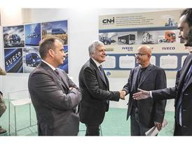 The Honourable Gian Luca Galletti, Italy's Minister of the Environment, Land and Sea, visits the CNH Industrial