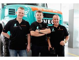 Team Petronas De Rooy Iveco (left, Gerard de Rooy, centre, Hans Stacey, right, Pep Vila)