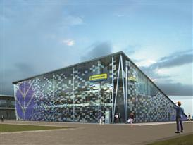 New Holland Agriculture Sustainable Farm Pavilion (facade) EXPO 2015