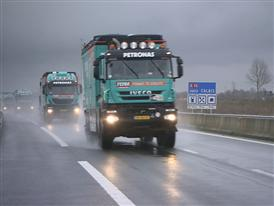 Iveco vehicles and FPT Industrial engines en route to South America for Dakar 2013