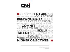 CNH Industrial 2014 Sustainability Report - Quote from Chairman, Sergio ..