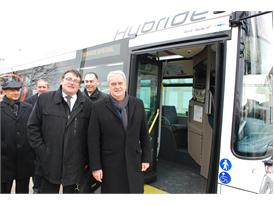 Inauguration  of the first HEULIEZ BUS  EURO VI HYBRID GX 337 in Angoulême