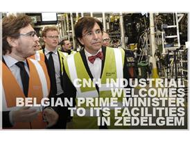 Belgian Prime Minister tours the production lines in Zedelgem, Belgium