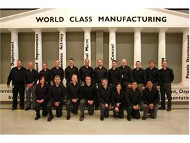 The WCM team, celebrate the award, alongside the Plant Manager