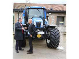 New Holland tractor at the first ever Biomethane Day in Verona, Italy.