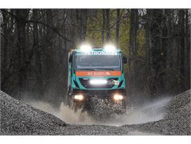 An Iveco Trakker, an off-road vehicle that will compete in the 2015 Dakar rally