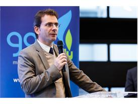 Iveco Brand President Pierre Lahutte speaks at the Gas Naturally event held at EU Parliament in Strasbourg