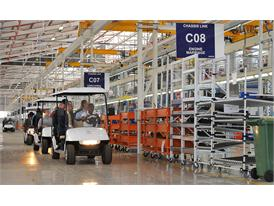 Guests are taken on a guided tour of the new CNH Industrial facility in Rosslyn Pretoria