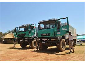 Tested By Dakar Iveco Trakkers were used for test drives at the launch of the new CNH Industrial facility