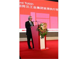 CNH Industrial CEO Richard Tobin at the opening ceremony of the new Harbin Industrial Complex