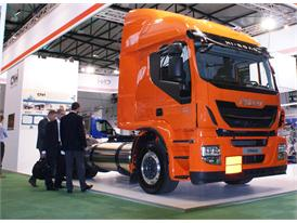CNH Industrial's stand at the NGVA Event in Brussels with the Iveco Stralis