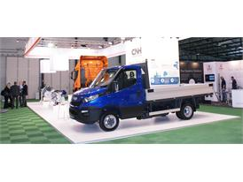 CNH Industrial NGVA stand in Brussels with the Iveco Daily.