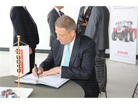 The Austrian Minister of Agriculture, Forestry, Environment and Water, Andrä Rupprechter, at Expo 2015