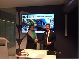 CNH Industrial and UNIDO representatives sign the joint declaration