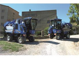 New Holland Braud Grape Harvesters Blue Cab 4 won a Sitevi gold award