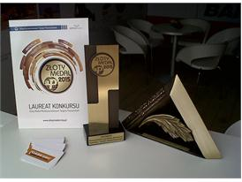 The gold medal conferred on the Case Grader at the Intermasz trade fair in Poland