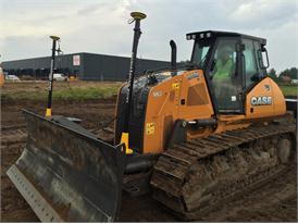 Case 1650M fitted with Leica Geosystems technology