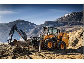 Case SR240 Skid Steer Loader digging