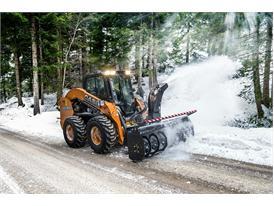 Case SV280 Skid Steer Loader clearing snow