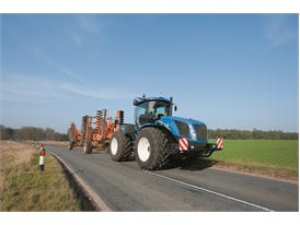 New Holland T9.560 undertaking road transport