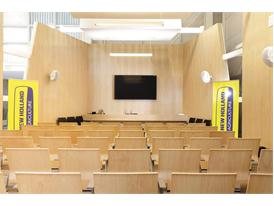 The auditorium inside the New Holland Customer Centre at the Jesi Plant