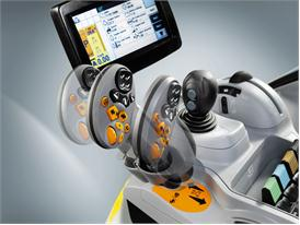 New Holland Upgraded CommandGrip™ multi function handle on T6 Auto Command™