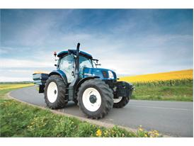 New Holland T6.140 Auto Command™ doing road transport