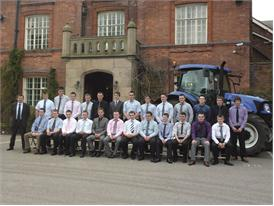 Graduation celebrations for New Holland apprentices 2013 in the UK