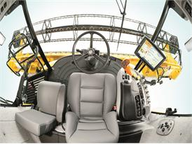 New Holland CX8090 Elevation Combine Cab with an outstanding view from panoramic glazing